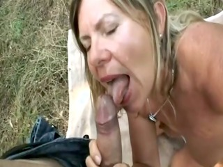 aged suck and fuck outdoor