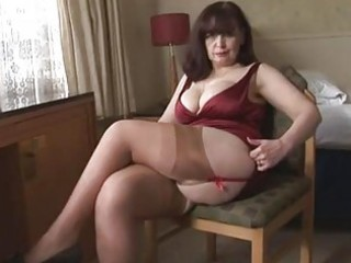 large wobblers older panty play and striptease