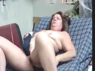mature lady using the one and the other holes to