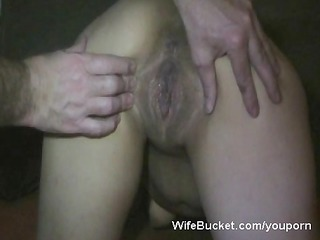 horny wife acquires a big creampie