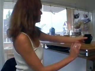 horny german mamma in her kitchen