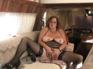bbw granny fucks ass with dildo during the time
